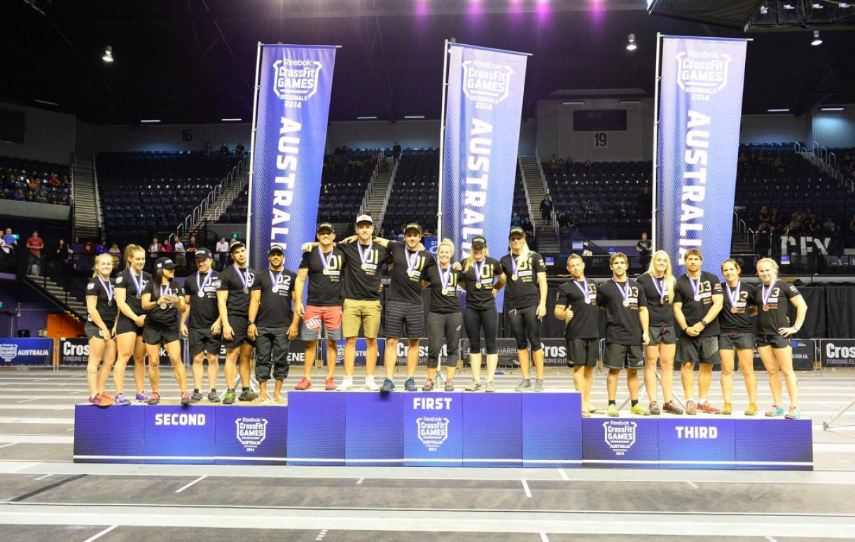 CrossFit Pacific Regionals, First place team CrossFit Athletic, 2014